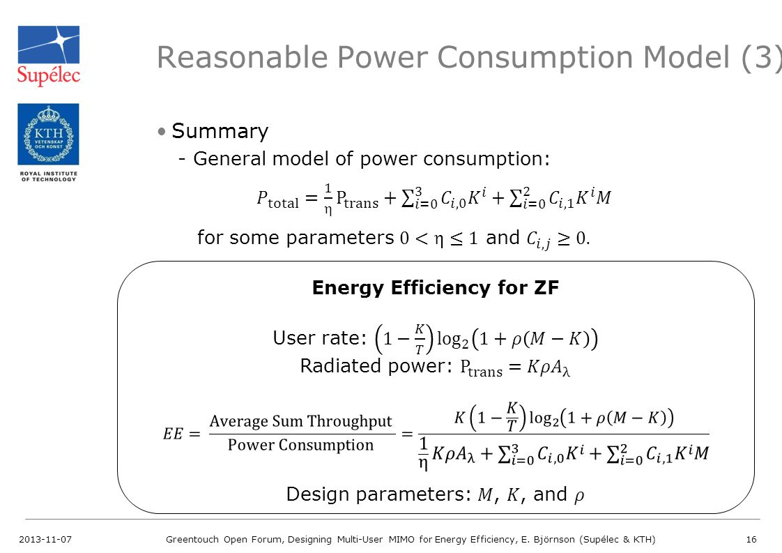 Reasonable Power Consumption Model (3)