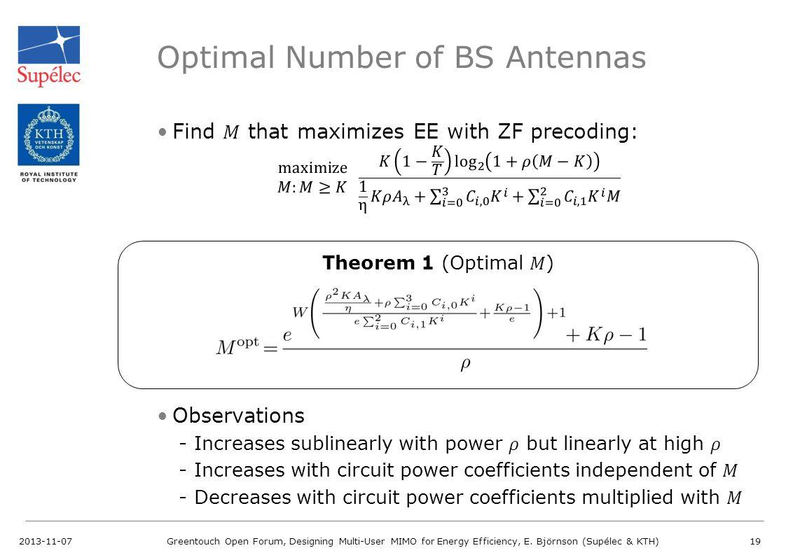 Optimal Number of BS Antennas