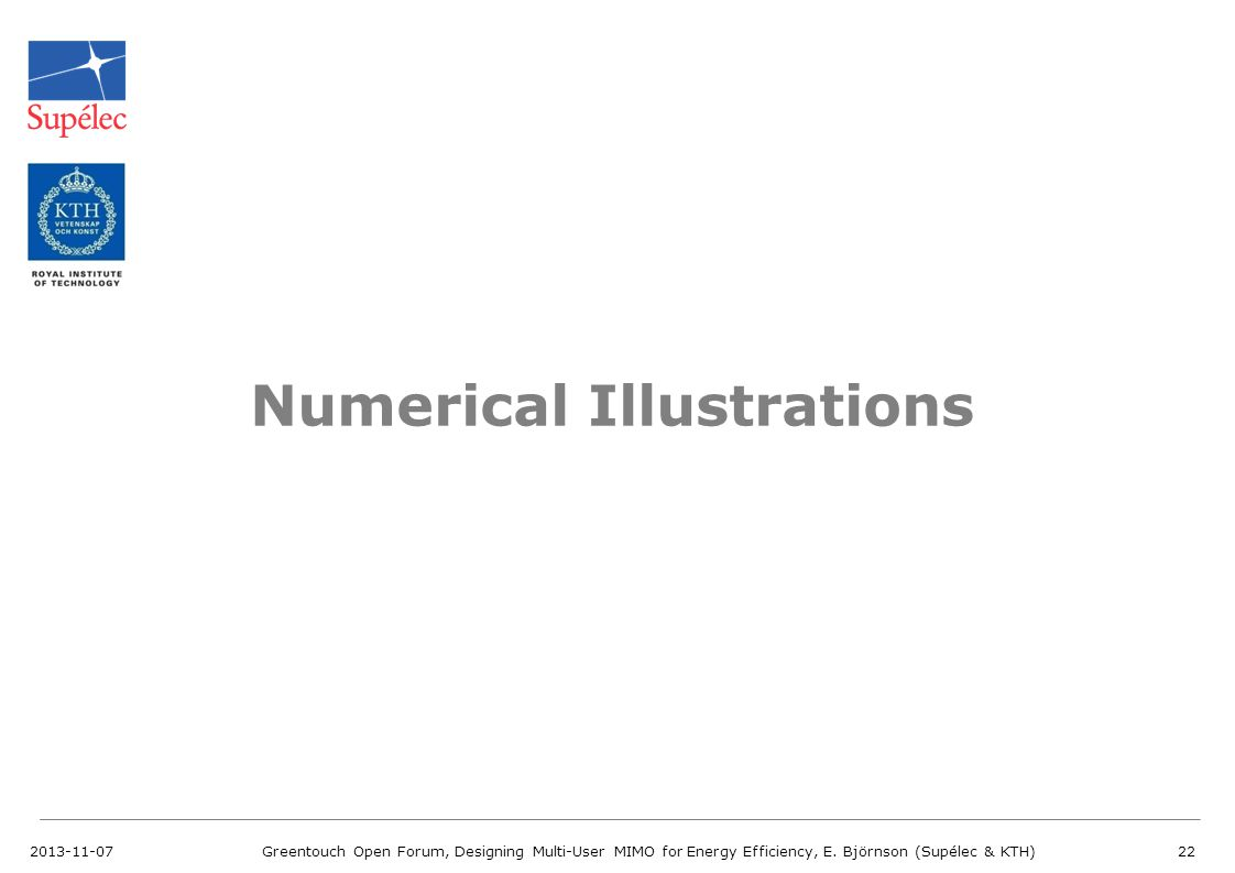 Numerical Illustrations