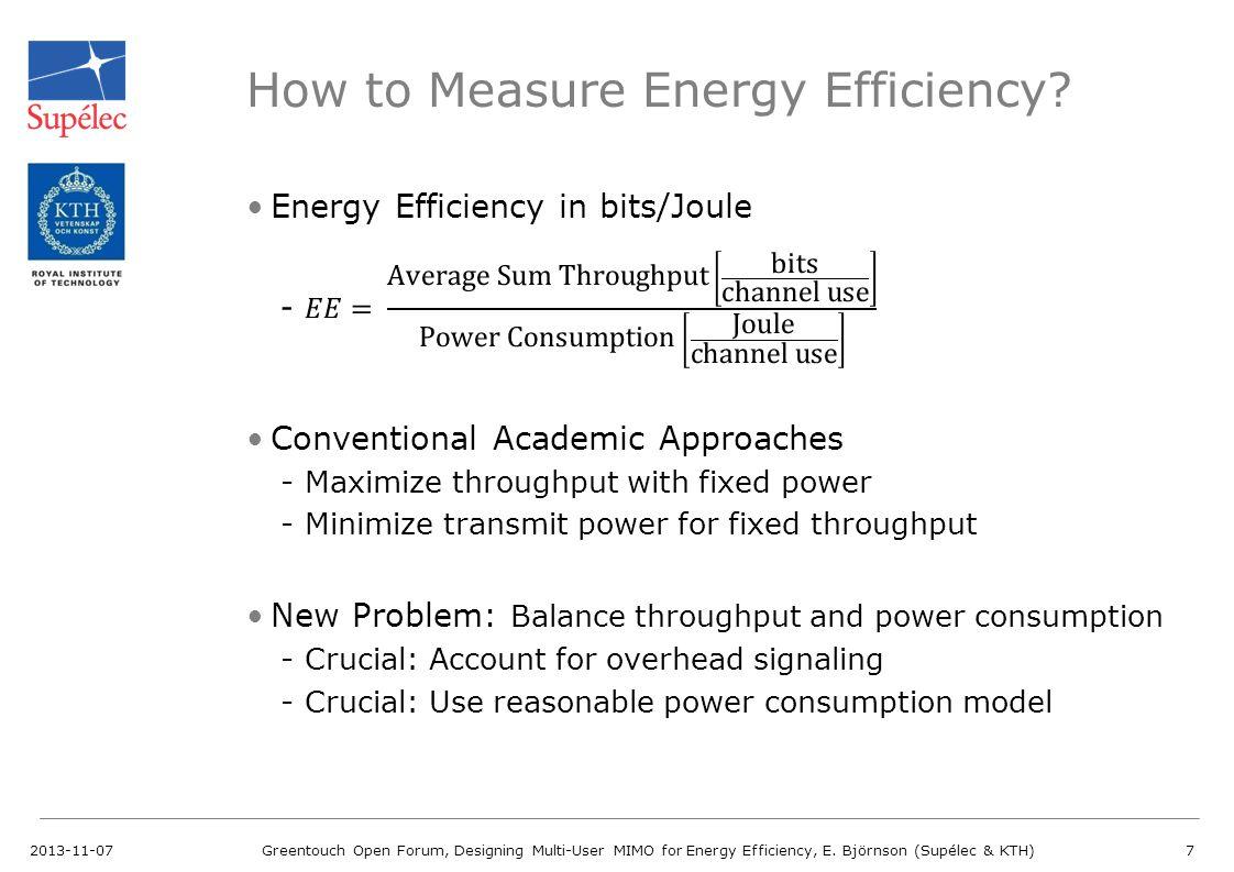 How to Measure Energy Efficiency
