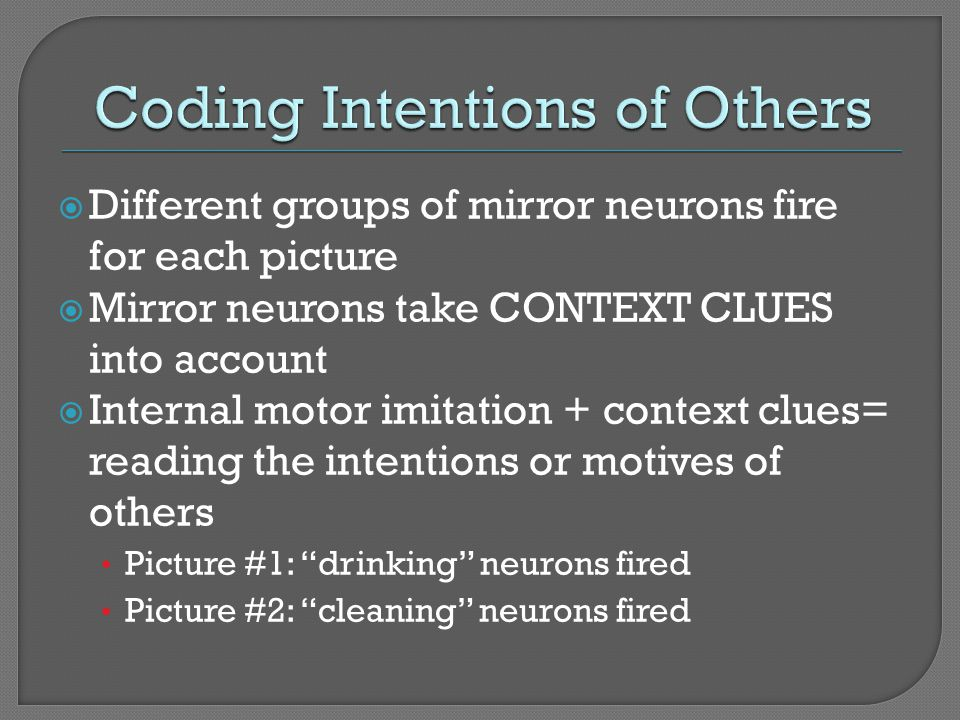 Coding Intentions of Others