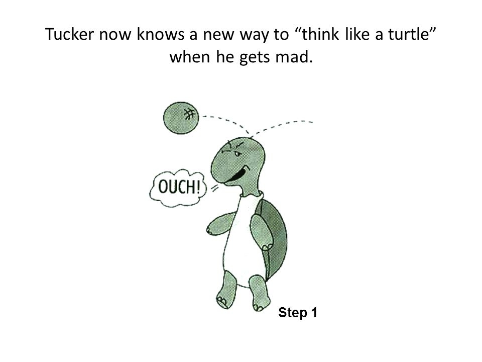 Tucker now knows a new way to think like a turtle when he gets mad.