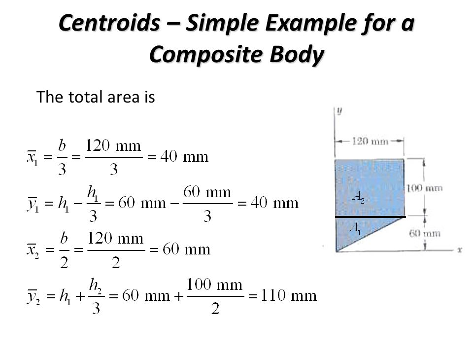 Centroids – Simple Example for a Composite Body