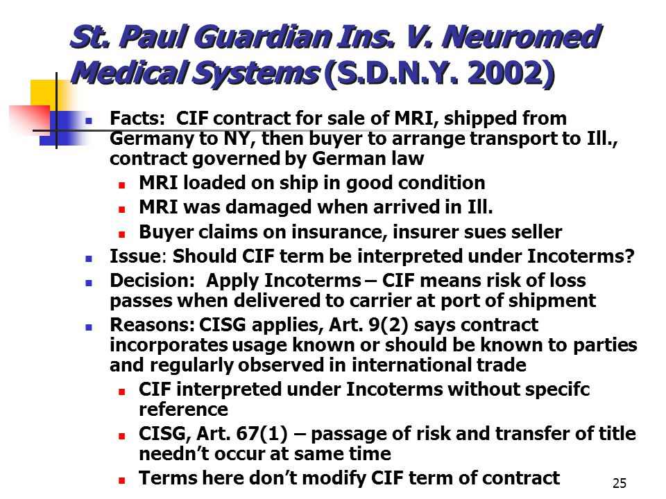 St. Paul Guardian Ins. V. Neuromed Medical Systems (S.D.N.Y. 2002)