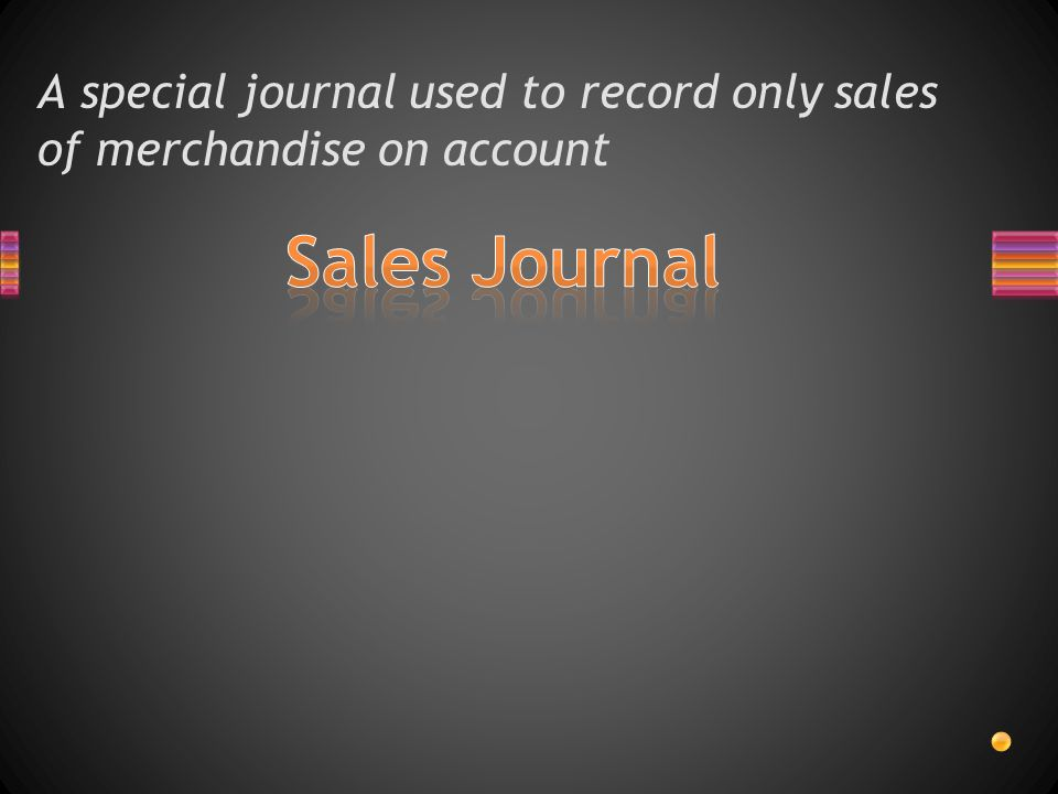 A special journal used to record only sales of merchandise on account
