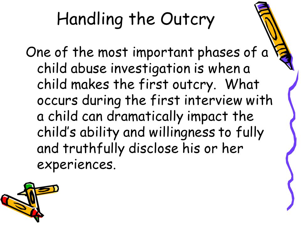 Handling the Outcry