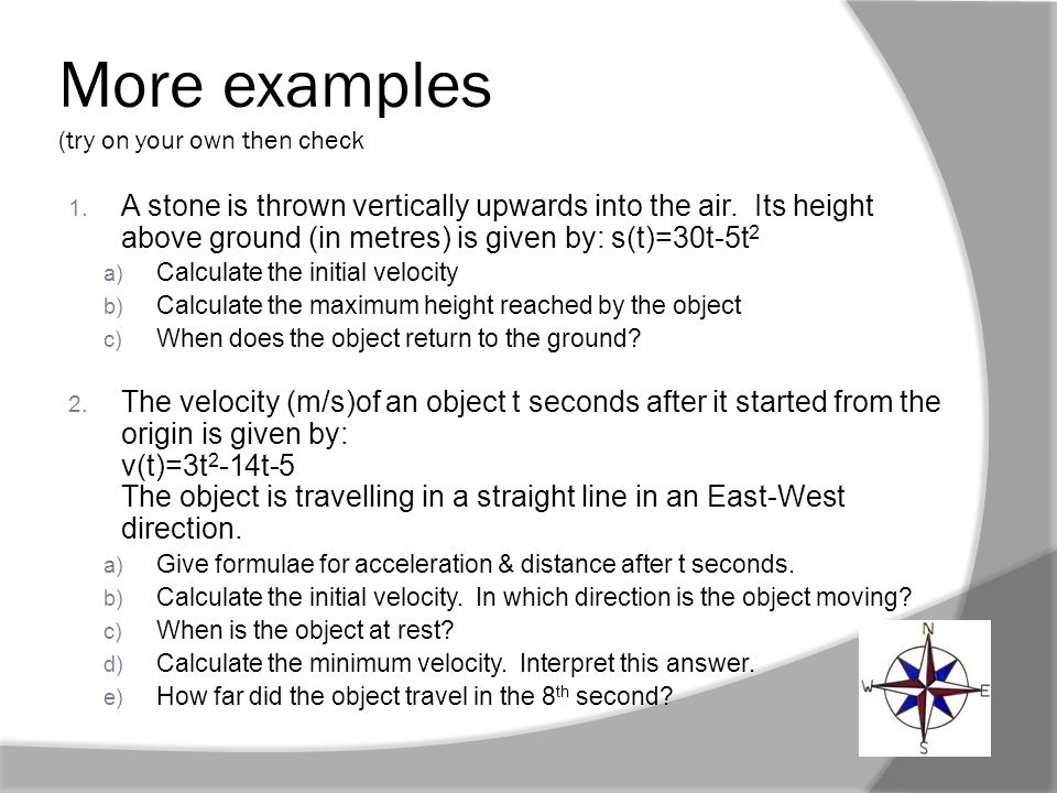 More examples (try on your own then check below for worked answers)