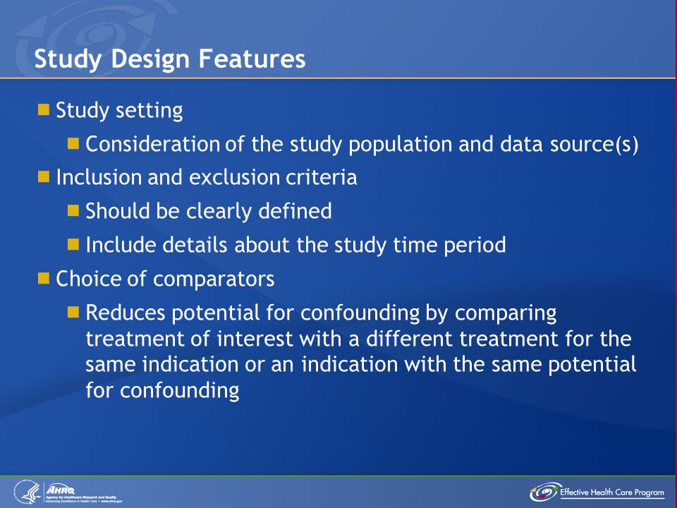 Study Design Features Study setting