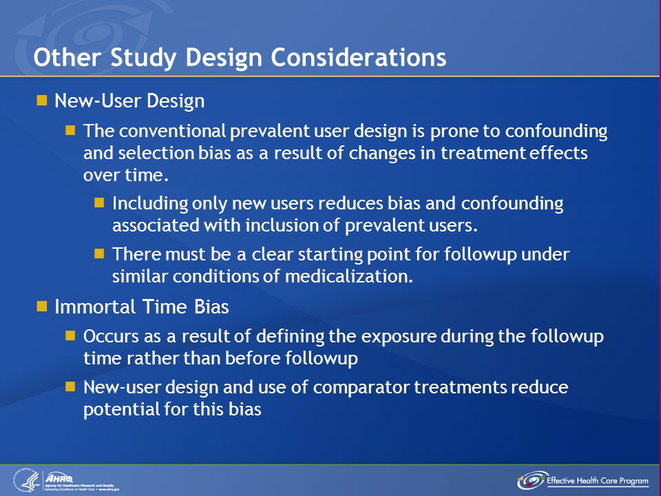 Other Study Design Considerations