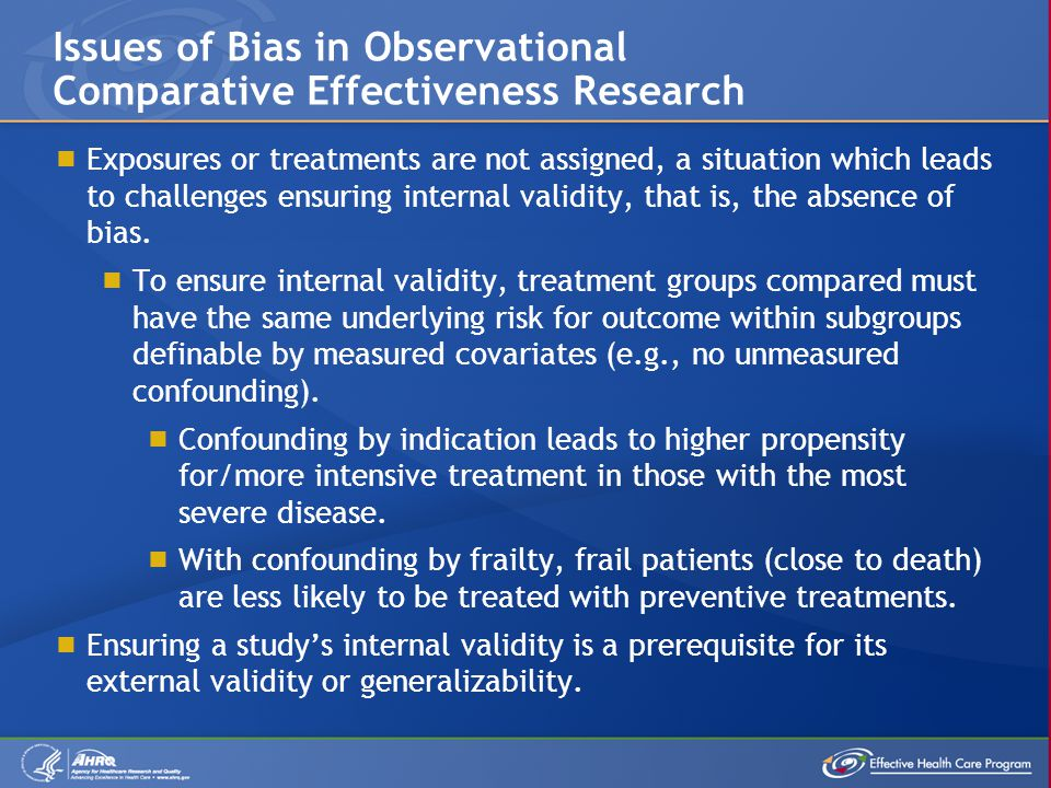 Issues of Bias in Observational Comparative Effectiveness Research
