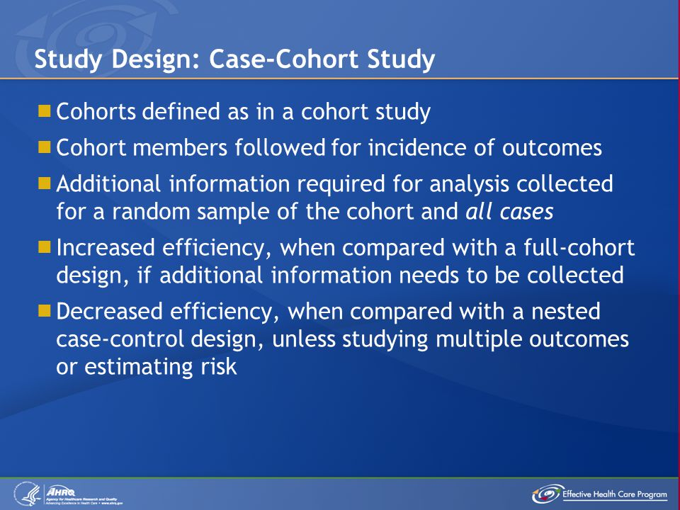 Cohort study with nested case-control analysis