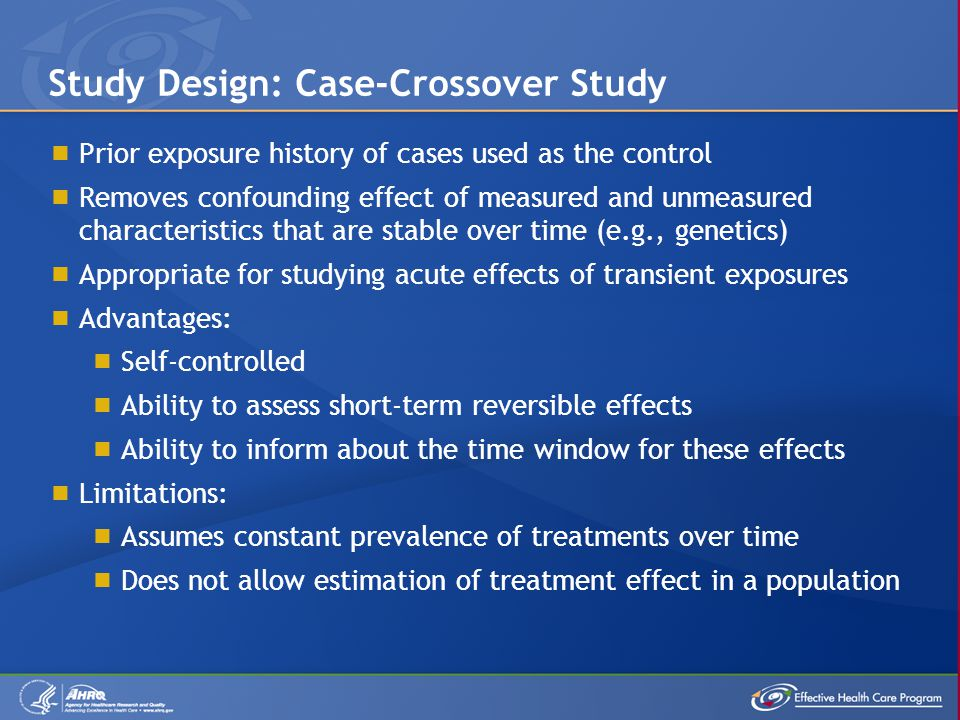 Study Design: Case-Crossover Study