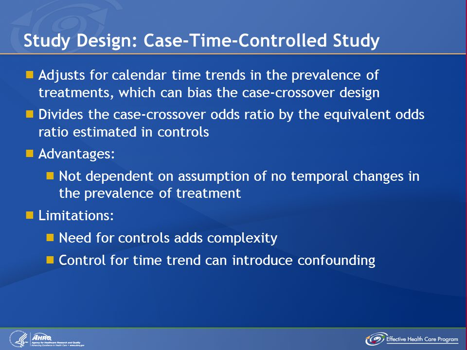 Study Design: Case-Time-Controlled Study