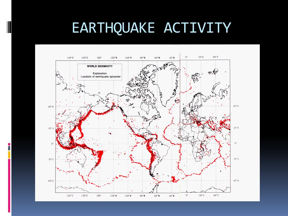 EARTHQUAKE ACTIVITY