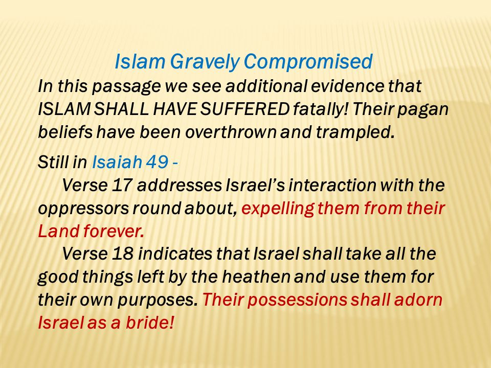 Islam Gravely Compromised