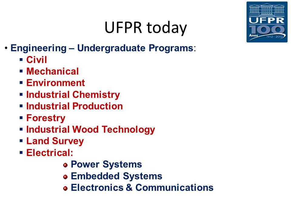 UFPR today Engineering – Undergraduate Programs: Civil Mechanical