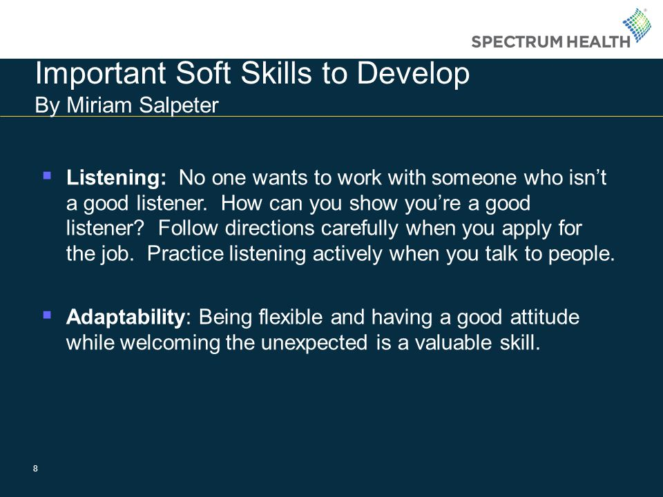 Important Soft Skills to Develop By Miriam Salpeter