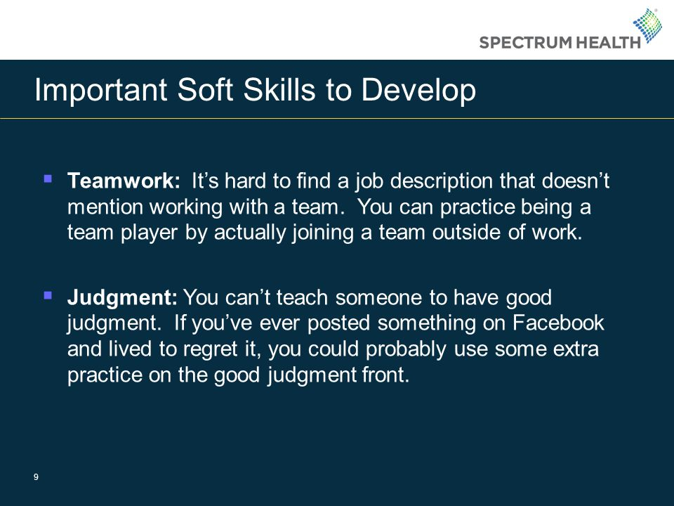 Important Soft Skills to Develop