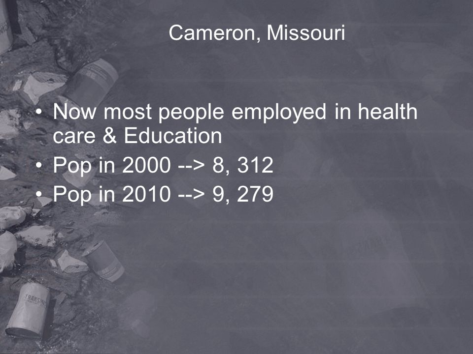 Now most people employed in health care & Education