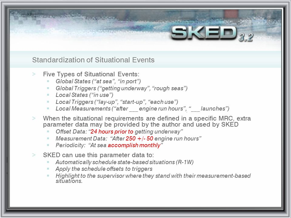 Standardization of Situational Events