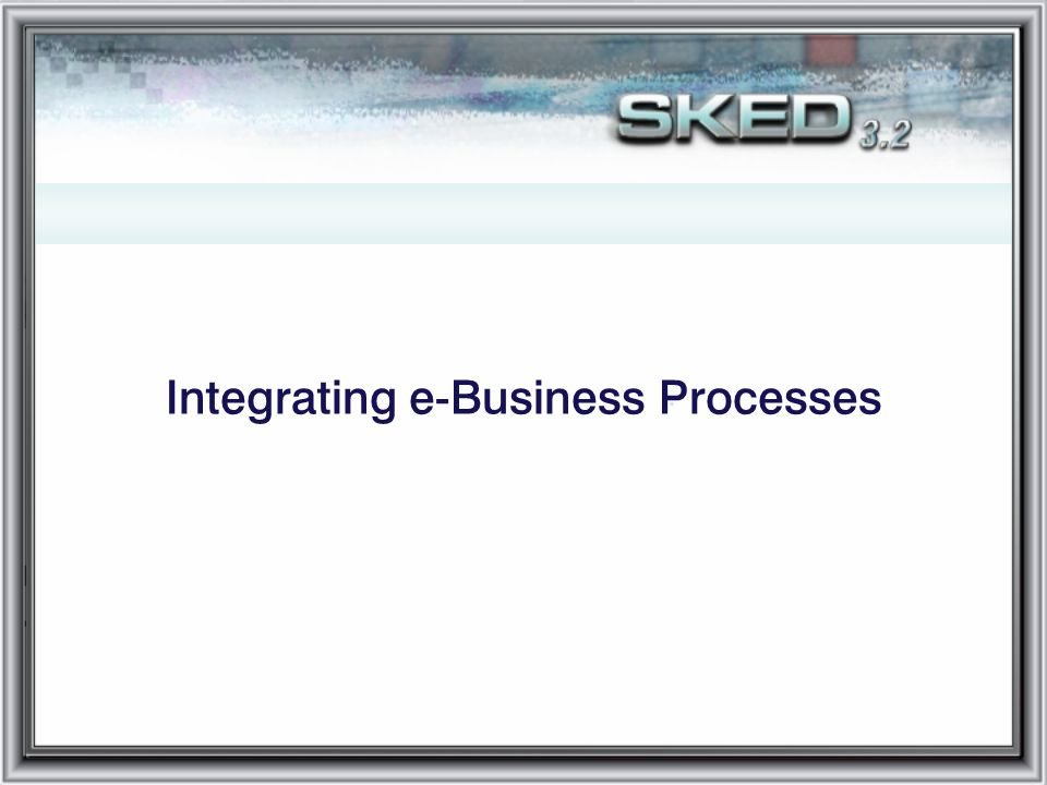 Integrating e-Business Processes