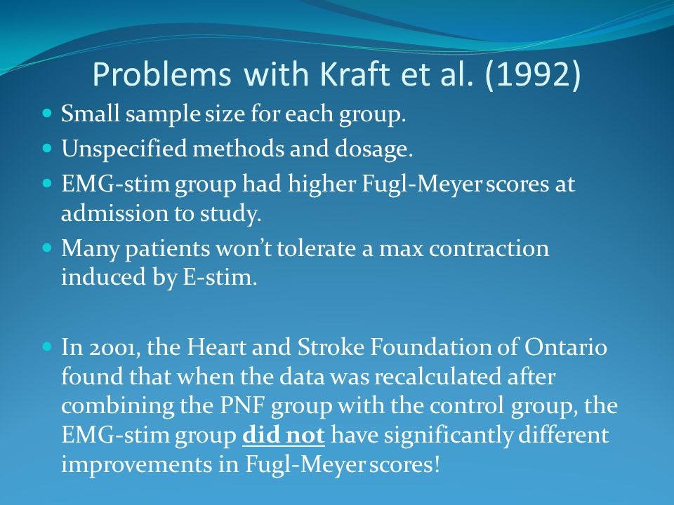 Problems with Kraft et al. (1992)