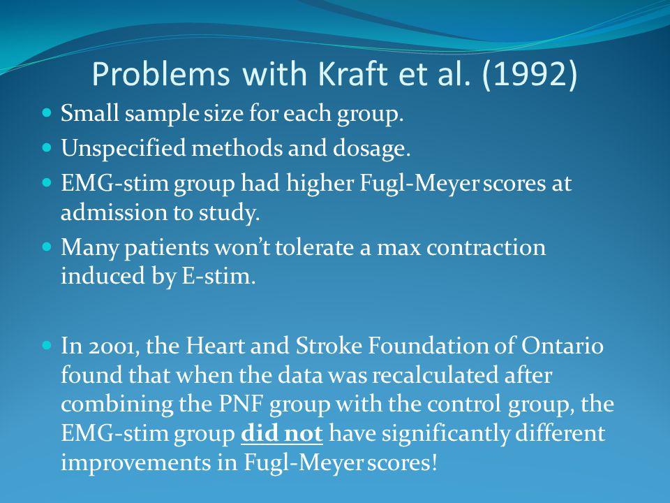 Problems with Kraft et al. (1992)