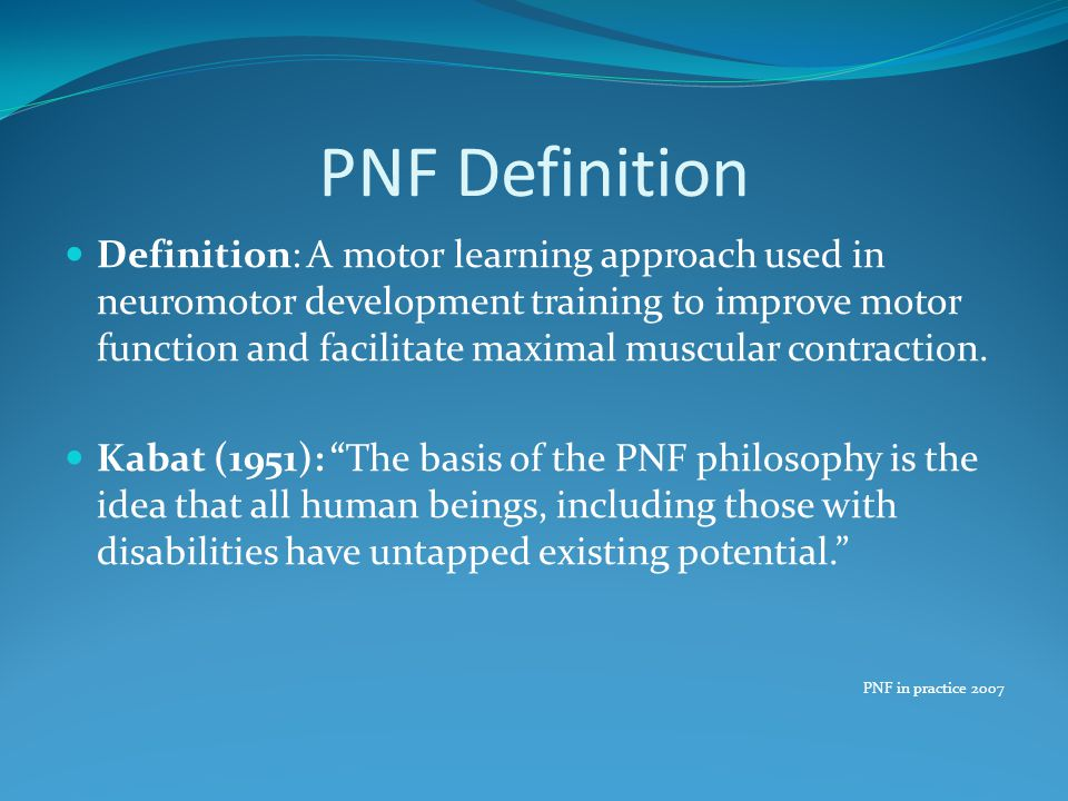 PNF Definition