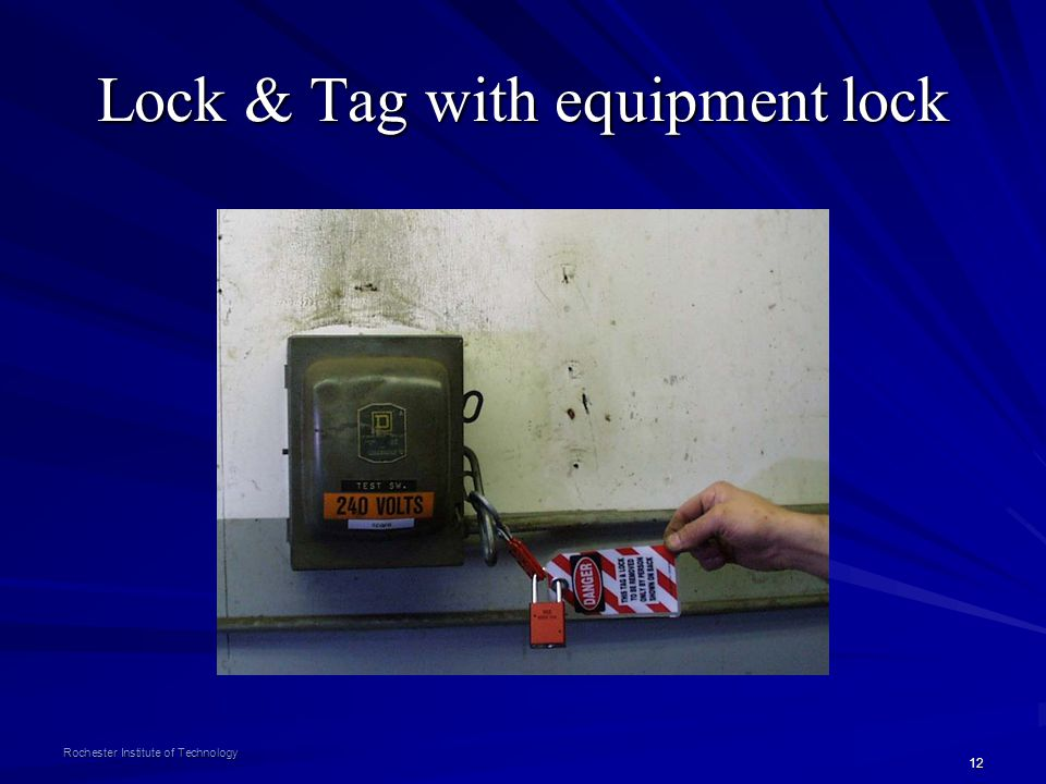 Lock & Tag with equipment lock