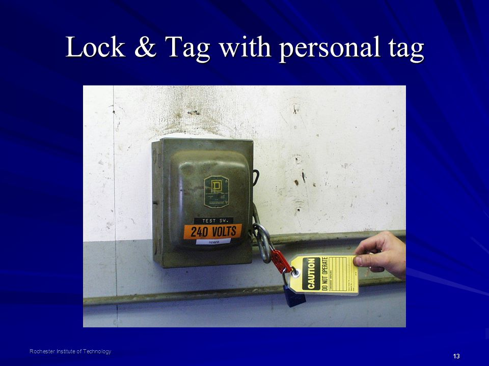 Lock & Tag with personal tag