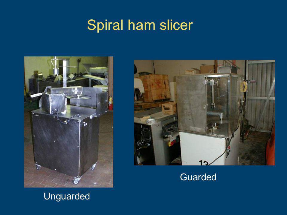 Spiral ham slicer Guarded Unguarded