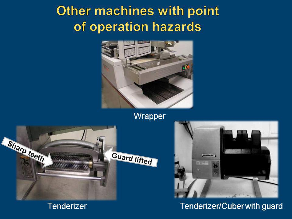 Other machines with point of operation hazards