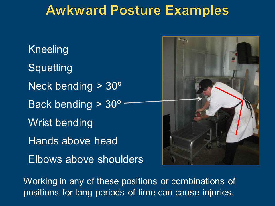 Awkward Posture Examples