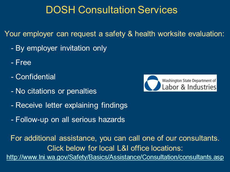 DOSH Consultation Services
