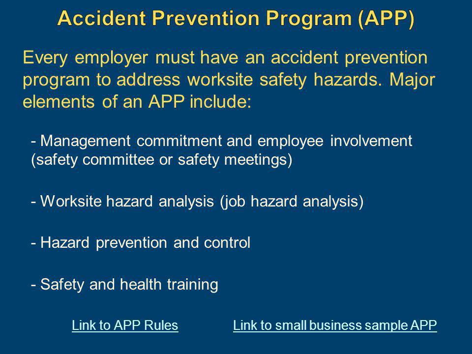 Accident Prevention Program (APP)