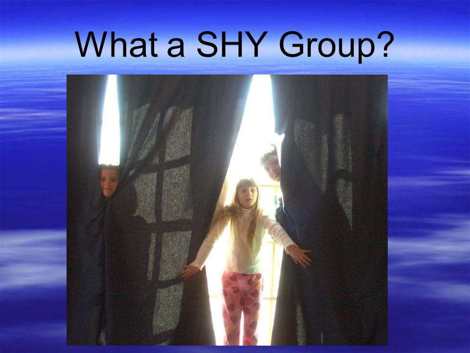 What a SHY Group