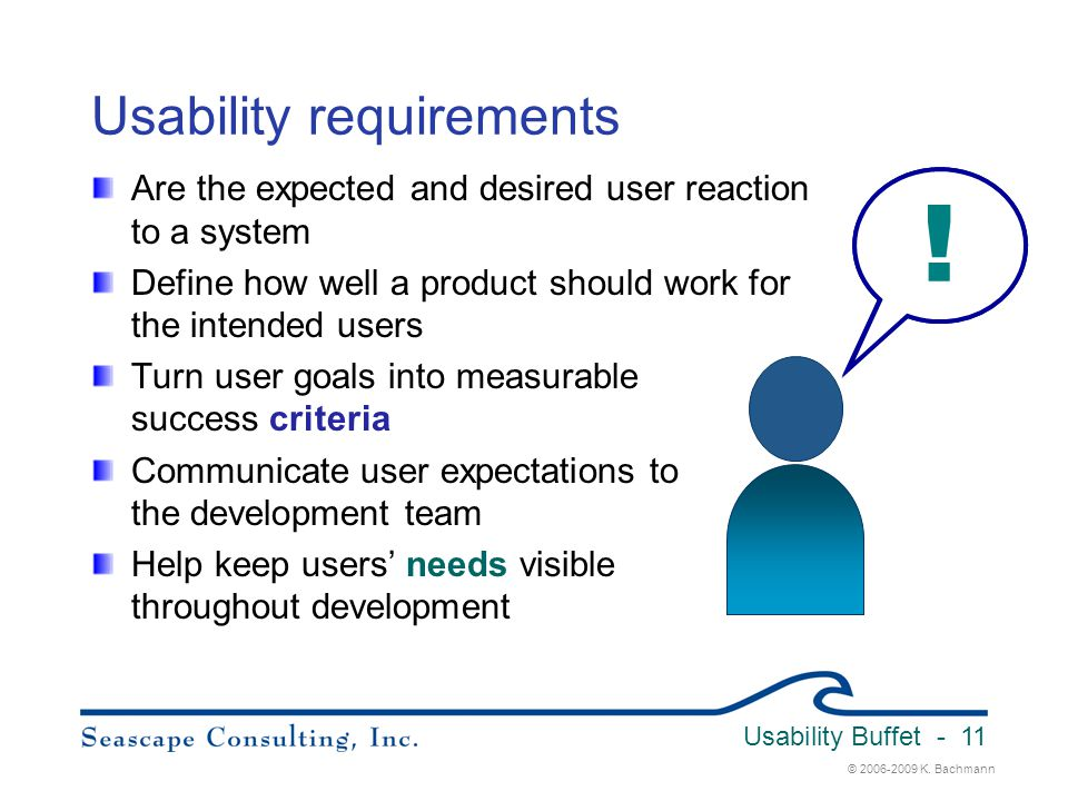 Usability requirements