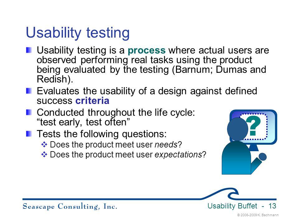 Usability Buffet 3/31/2017. Usability testing.