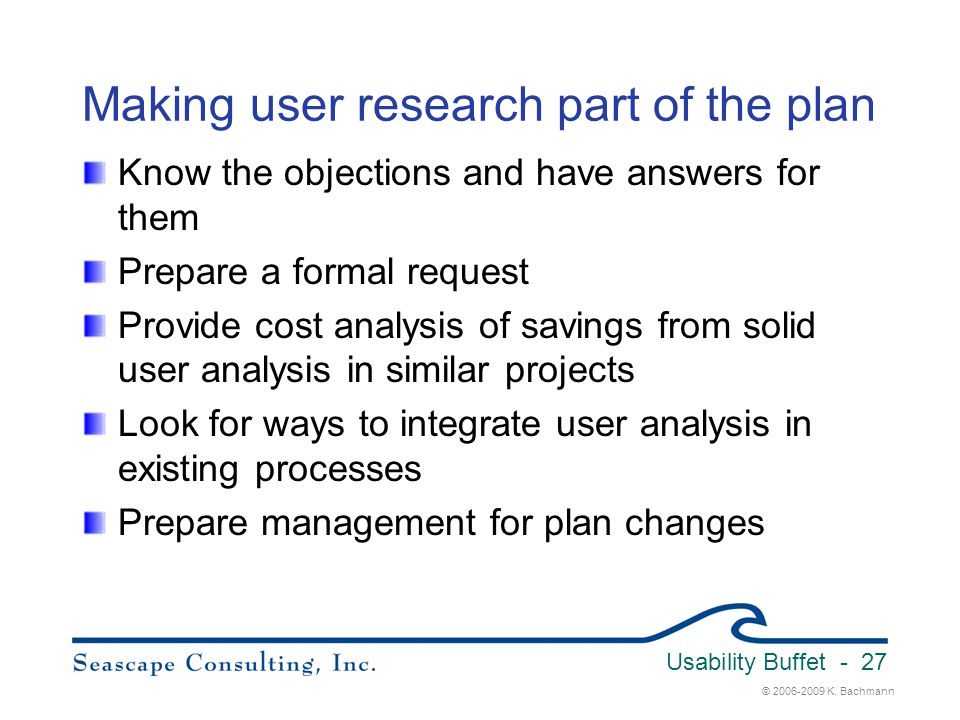 Making user research part of the plan