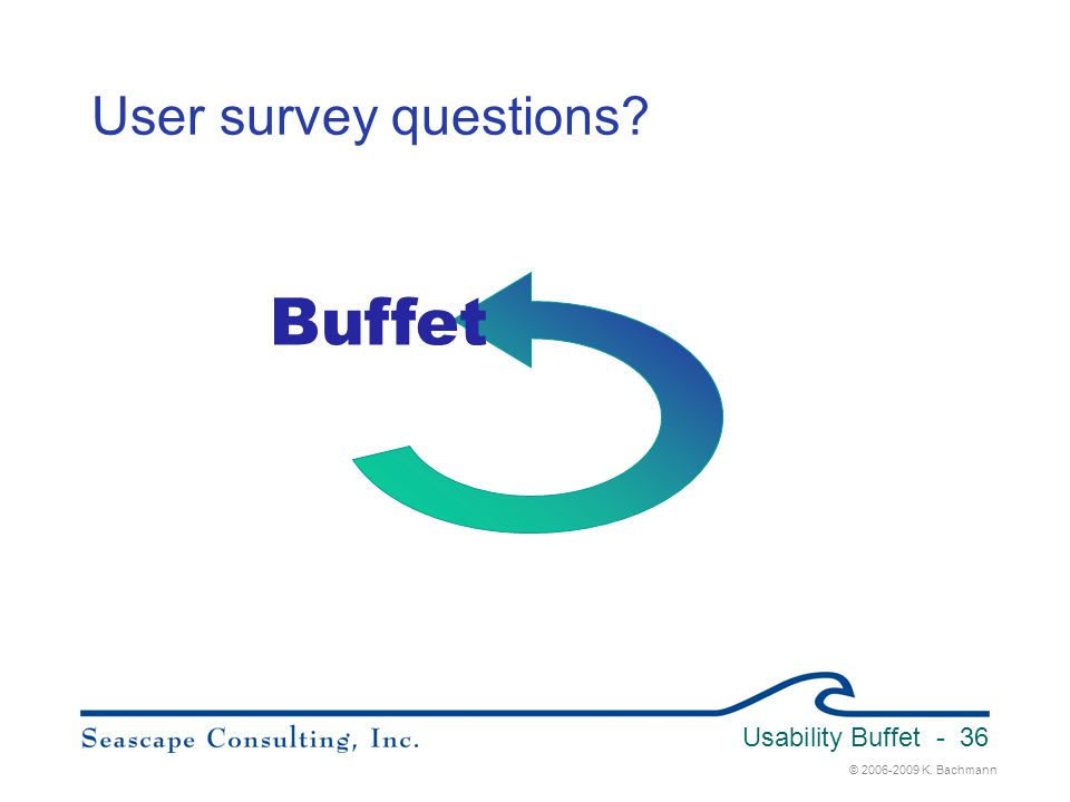 Buffet User survey questions Usability Buffet 3/31/2017