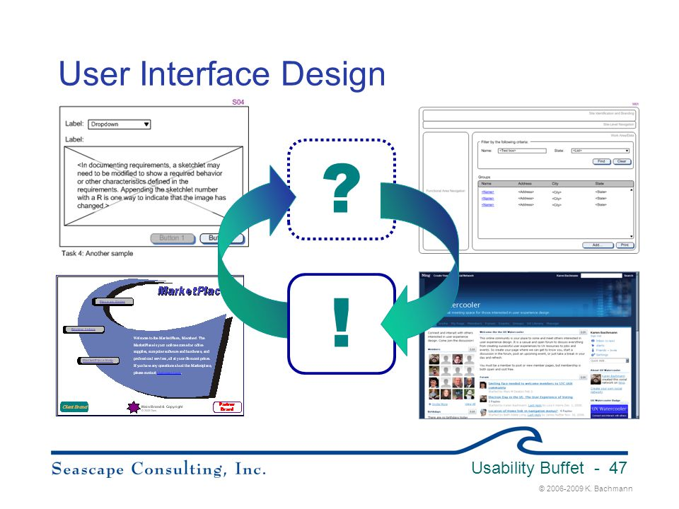 ! User Interface Design Usability Buffet 3/31/2017