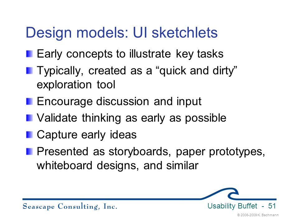Design models: UI sketchlets
