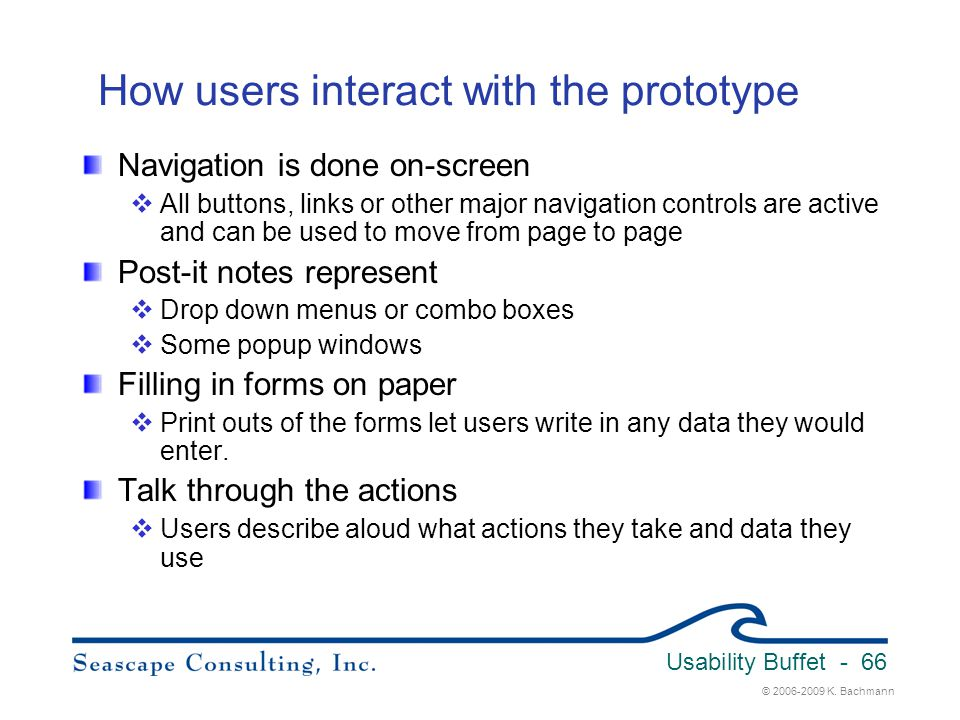 How users interact with the prototype