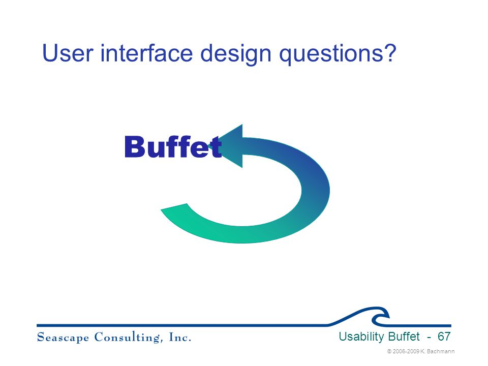 User interface design questions