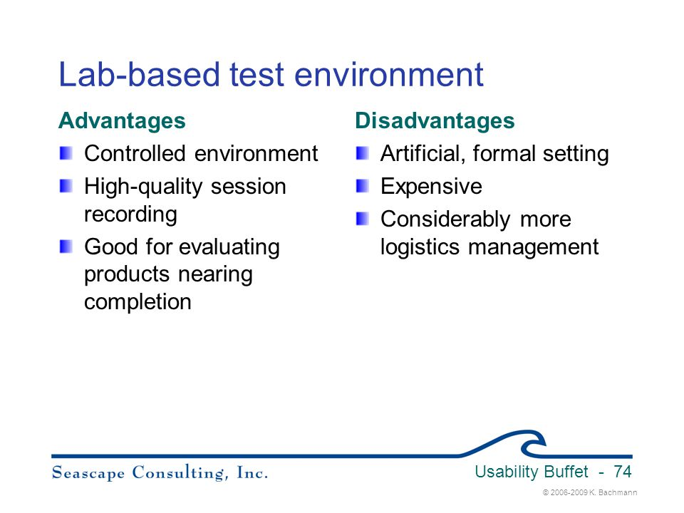Lab-based test environment