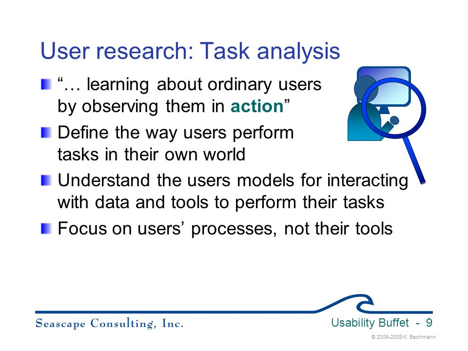 User research: Task analysis