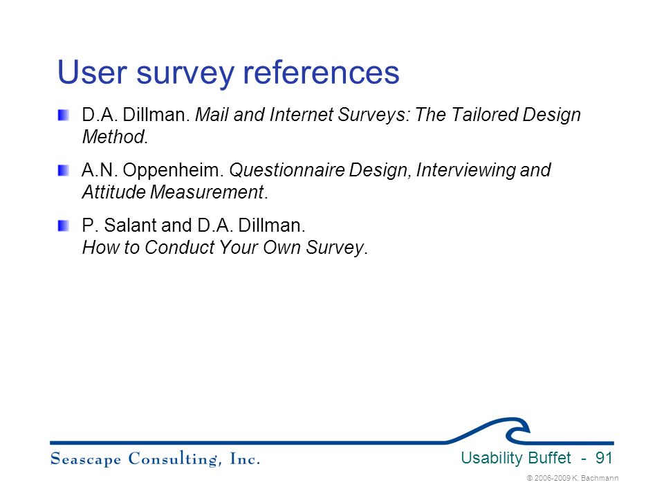User survey references