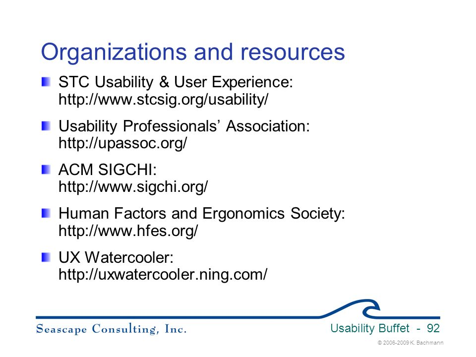 Organizations and resources
