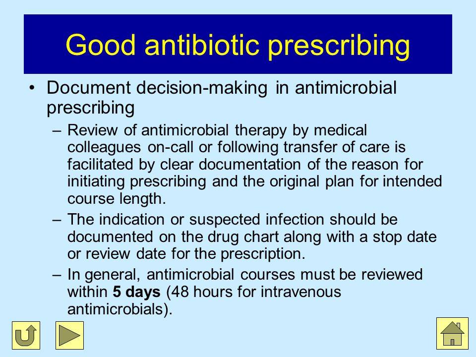 Good antibiotic prescribing