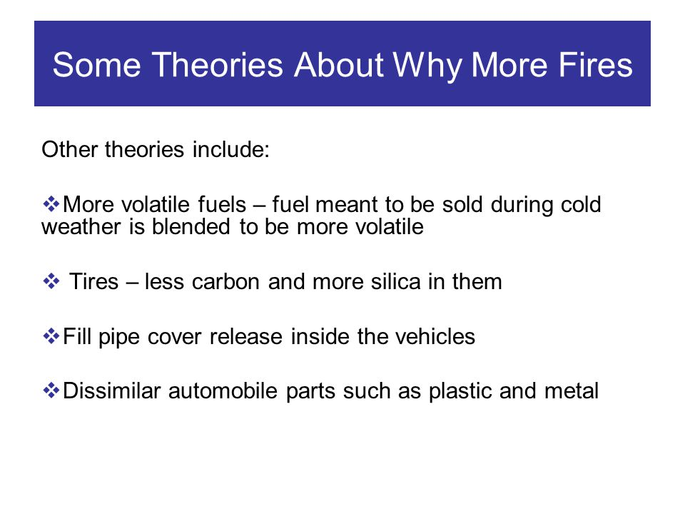 Some Theories About Why More Fires